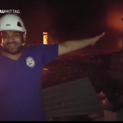 """A """"White Helmet"""" claiming Russia and Syria bombed an aid convoi (2016)"""