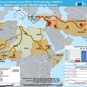 Herkunftsländer und Migrationsrouten (EU 2016)