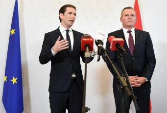 Kanzler Kurz und FPÖ-Verteidigungsminister Kunasek zur Enttarnung eines russischen Spions.
