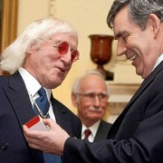 Savile und Premier Gordon Brown