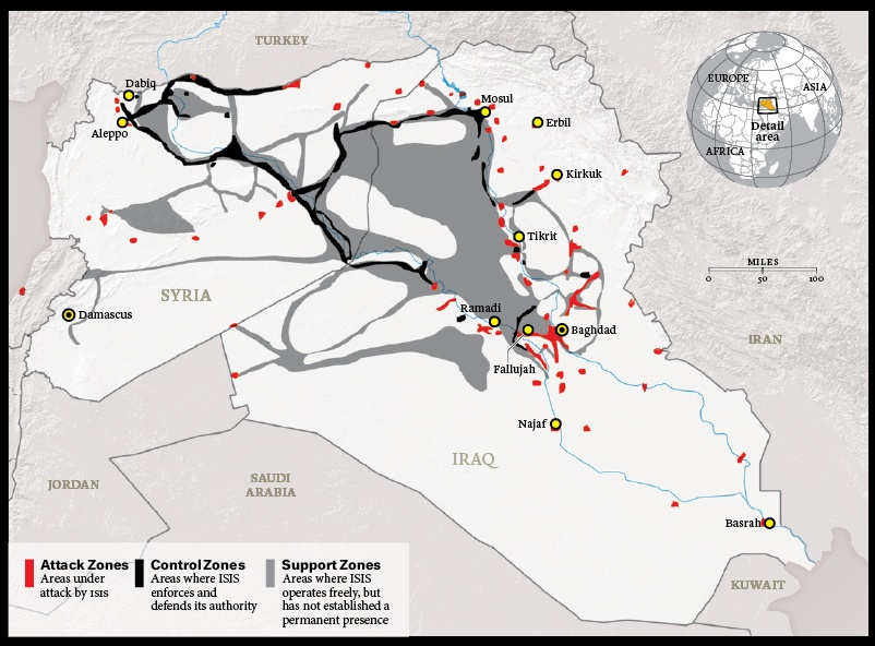 ISIS: Supply and export routes through NATO partners Turkey and Jordan (ISW / Atlantic, 2015)