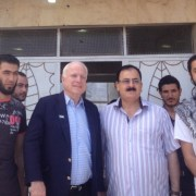 Late US senator John McCain visiting fighters in Syria (2013)