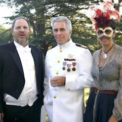 Harvey Weinstein, Jeffrey Epstein, Ghislaine Maxwell am 18. Geburtstag der britischen Prinzessin Beatrice (2006)
